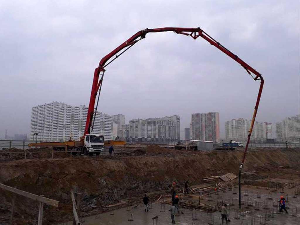 Автобетононасос 58 метров