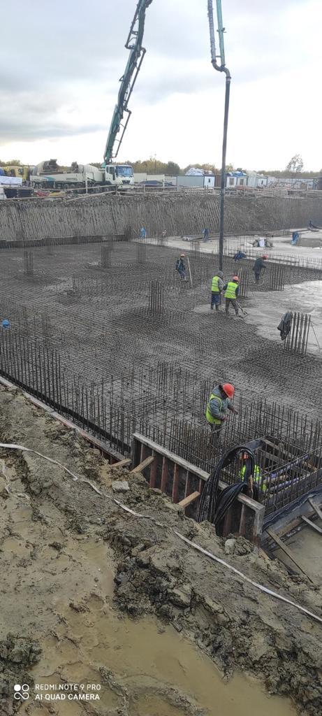 Бетононасос 53 метра в Гатчине